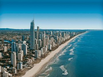 Australia - Gold Coast - The sixth largest city in Australia, located in the south-east of Queensland, 66 km south of the cen