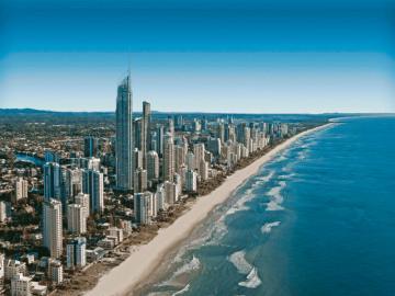 Australia - Gold Coast - Szóste co do wielkości miasto Australii, położone w południowo-wschodniej części stanu Queens