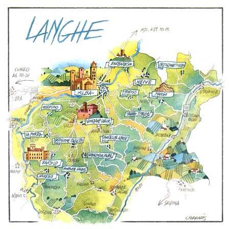RegaloOliva - Cartina Langhe del Piemonte (2×2)