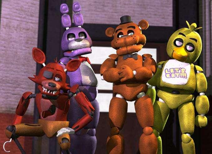 """cinci nopți la Freddy's - Five Nights at Freddy's este primul joc din seria """"Five Nights at Freddy's"""" din genul horror punct-și-clic / supraviețuire. Scopul jucătorului este să supraviețuiască cinci nopți principale și (6×6)"""