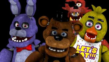 "fnaf vijf nachten bij Freddy's - Five Nights at Freddy's is het eerste spel in de serie ""Five Nights at Freddy's"""