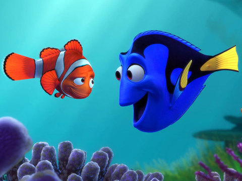 Nemo Marlin and Doris - Where is Nemo? (Finding Nemo) - American animated film from the 2003 Pixara production and Walt Disn