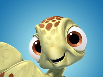 "Squirt Where is Nemo - Awarded Oscar for the best full-length animated film production ""Finding Nemo"" returns to"