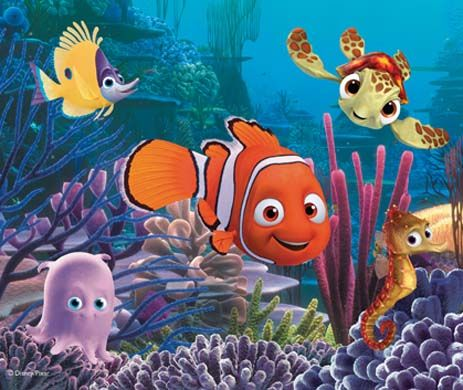 Nemo and friends - Where is Nemo - The Great Barrier Reef is inhabited by colorful fish called clownfish. One of them n