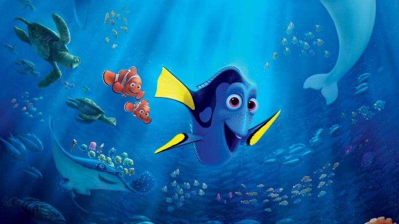 Dory - Găsirea lui Nemo - Marea barieră de recif este locuită de pești colorați numiți pești de clovn. Unul dintre ei pe nume Marlin întâlnește tragedia. Un pește prădător își devorează soția Coral și aproape (5×5)