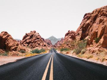 Droga marzeń - Autostrada marzeń, droga, pustynia.