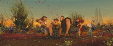 The Croods - Earth, four million years ago. Volcanic activity completely changes the prehistoric landscape. That