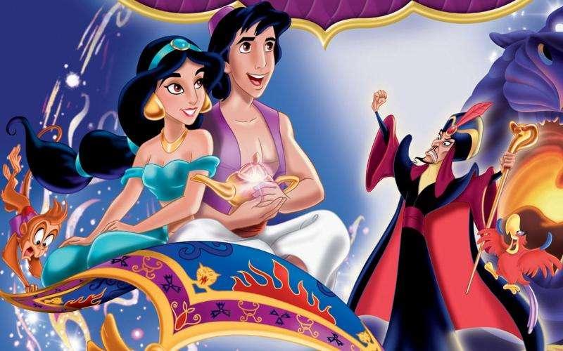 aladdin disney příběh - Celovečerní animovaný film z roku 1992 produkoval Walt Disney Pictures, třicátý první film z kánonu animovaných filmů Disney. Je to bezplatná adaptace příběhu Aladina a magické lampy z (5×3)