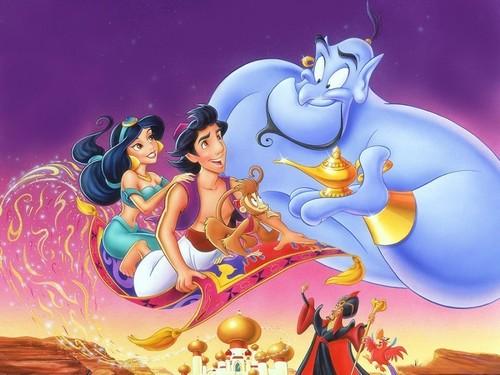 aladdin disney příběh - Celovečerní animovaný film z roku 1992 produkoval Walt Disney Pictures, třicátý první film z kánonu animovaných filmů Disney. Je to bezplatná adaptace příběhu Aladina a magické lampy z (4×2)