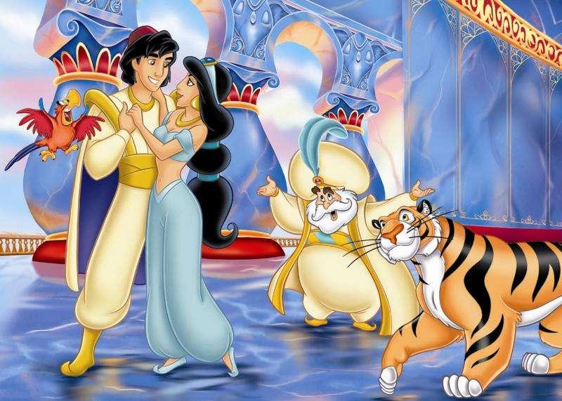 Aladdin a Jasmine - Celovečerní animovaný film z roku 1992 produkoval Walt Disney Pictures, třicátý první film z kánonu animovaných filmů Disney. Je to bezplatná adaptace příběhu Aladina a magické lampy z (8×7)