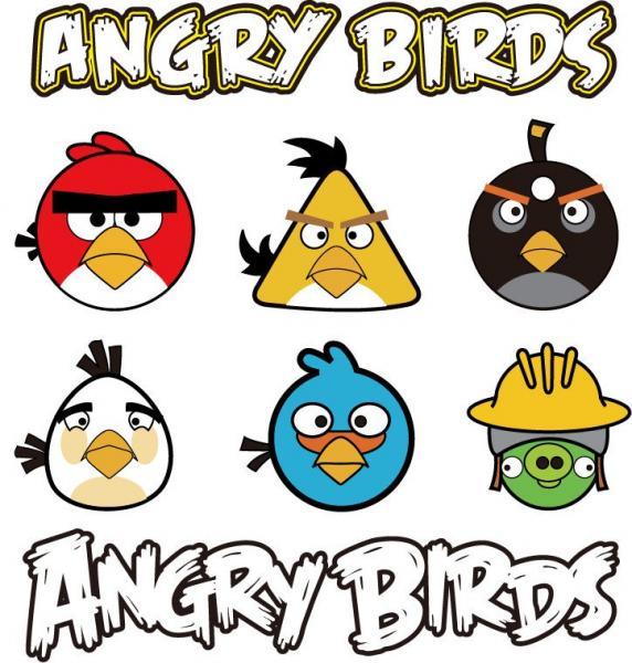 Wuetende Voegel - Angry Birds - eine Reihe von Computerspielen, die im Dezember 2009 von Rovio Mobile lanciert wurden und bei denen die Spieler eine Schleuder verwenden, aus der Voegel auf in verschiedenen Strukturen g (5×5)