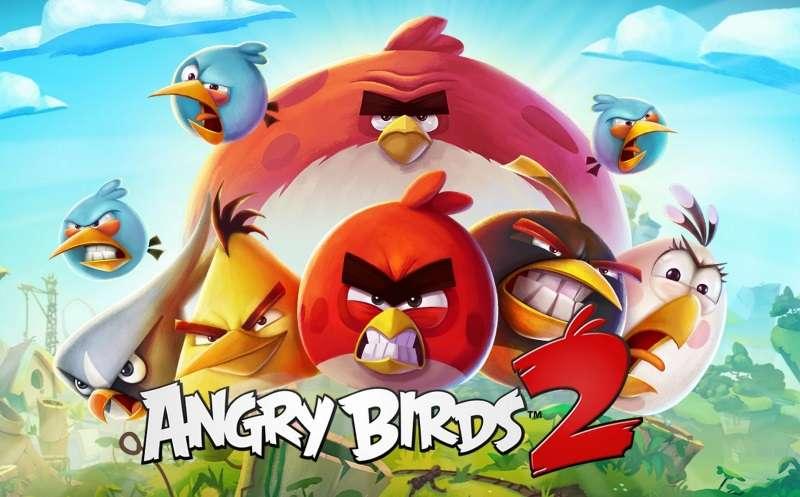 Wuetende Voegel - Angry Birds - eine Reihe von Computerspielen, die im Dezember 2009 von Rovio Mobile lanciert wurden und bei denen die Spieler eine Schleuder verwenden, aus der Voegel auf in verschiedenen Strukturen g (5×4)