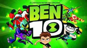 Ben10 on a green background - Ben 10 on a green background from a fairy tale