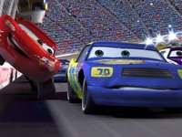 2 Pixar cars - Cars 2 (American 2) - an American animated film from 2011 made in 3D technology in the Pixar studio