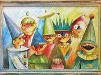 Makowski's painting - T. Makowski Masquerade 2.Picture puzzle.