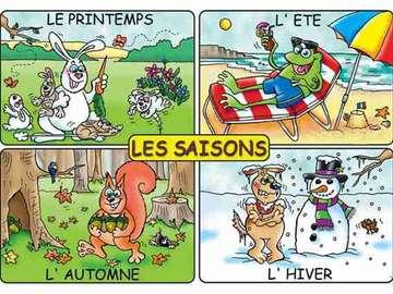le stagioni - impariamo giocando, un puzzle divertente per bimbi dove poter imparare le stagioni.