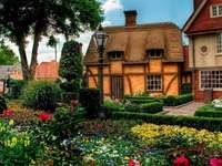 αχυρένια σπίτια, κήπος - αχυρένια σπίτια, κήπος
