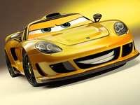 voiture jaune - super coureur pour les tout-petits
