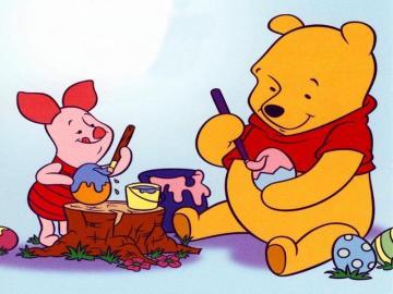 Winnie the Pooh - Winnie the Pooh paints eggs