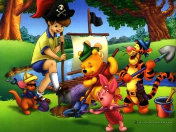 Winnie the Pooh - Winnie the Pooh is looking for a treasure