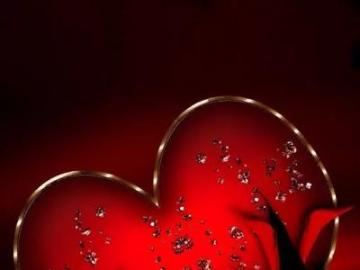 heart - Wonderful red and black