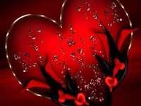 corazón - Maravilloso rojo y negro