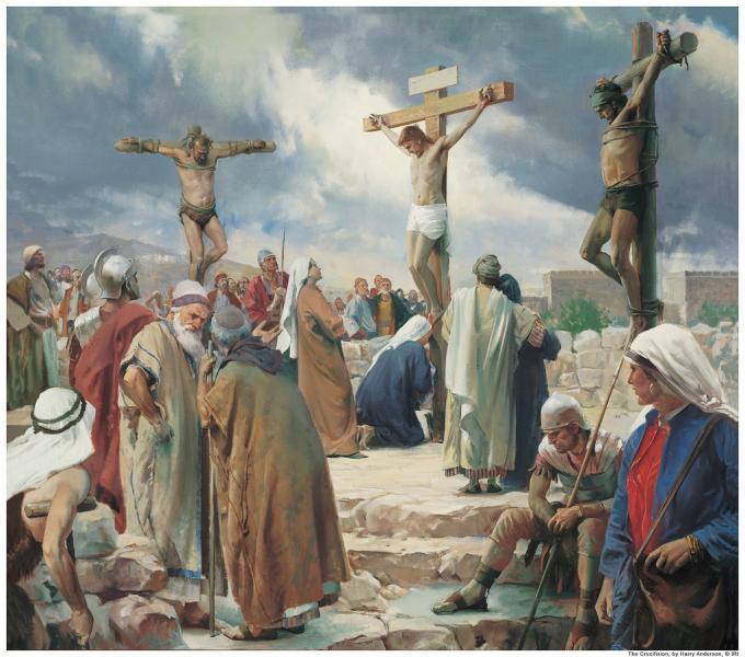 Crocifficione - Dipinto crocifissione di Gesù