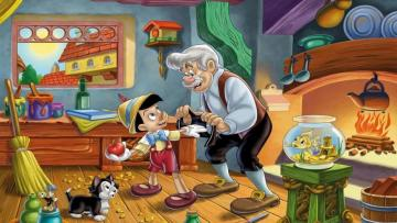 Pinocchio 2 - Pinocchio in the Gepetta studio