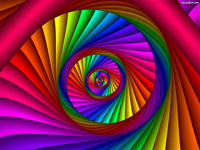 Spirale graphique arc-en-ciel