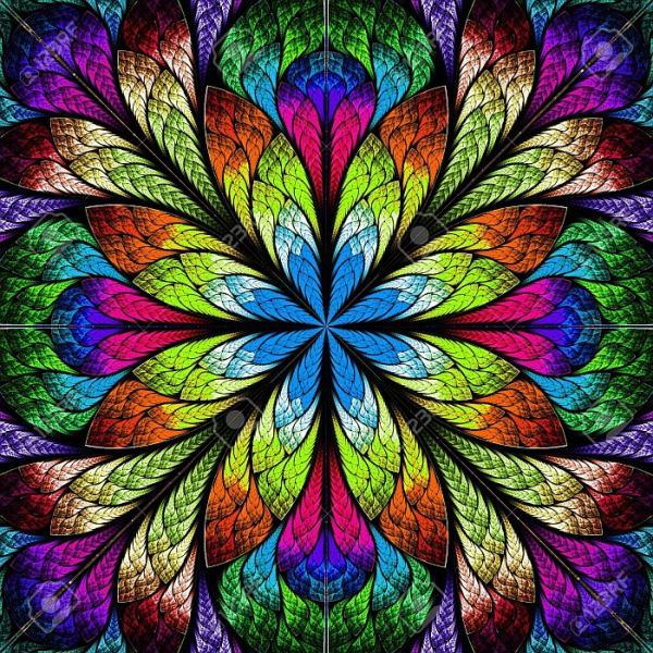 Многоцветна графика на цветя