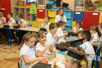 first day at school - this is a photo from the gallery of our school