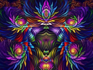 composition de l'abstraction d - Composition avec des figures d'abstraction