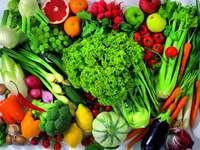 Egészséges ételek kirakós