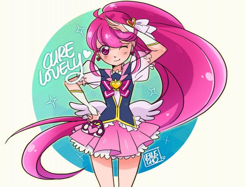 Cure Lovely - happiness charge precure cure lovely (10×10)