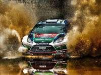 Ford Fiesta - puzzle de rallye de voiture