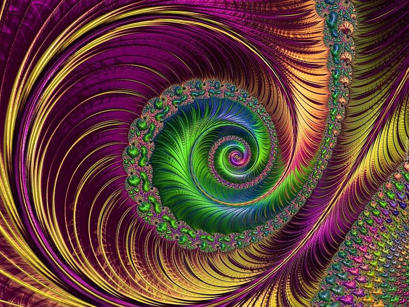 фрактали, абстракция, графика