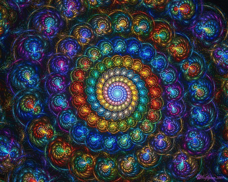 fractales, espirales de colore