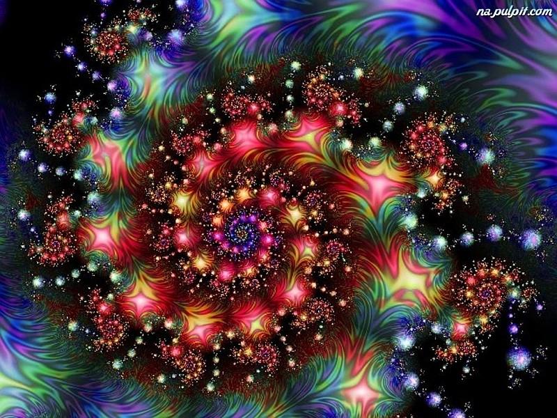 fractals, αφηρημένη, σπιράλ