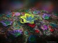 composição floral colorida