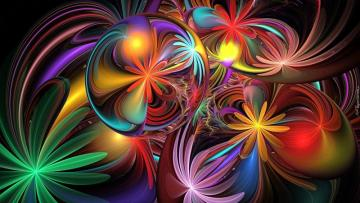 Abstraction of colorful flower - Abstraction of colorful flowers