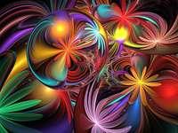 Absztrakt színes virágok - Absztrakt színes virágok
