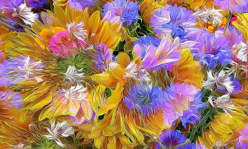 Abstraction, flowers, artwork - Abstraction, flowers, artwork
