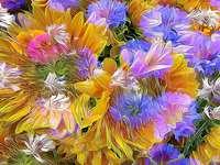 Astrazione, fiori, opere d'art