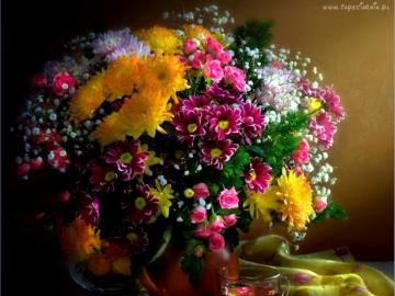 virágok vázában