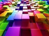 Färgglad rumslig kub - Färgglada rumsliga kuber