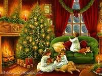 Sisters for Christmas - C. - Systrar vid jul. Jul scen.