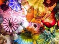 Цветни стъклени цветя