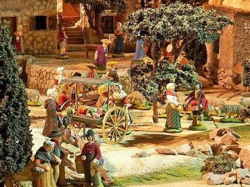 Presepe provenzale, il mercato - Presepe provenzale, il mercatino di Natale