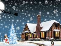 Vinter jullandskap