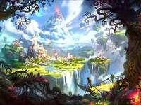 Fairytale city - colorful city from a fairy tale